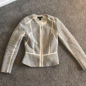 H&M tweed zip blazer/jacket - Size 6
